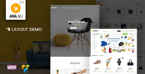 Ama.Ali - Market Furniture Shop WooCommerce WordPress Theme