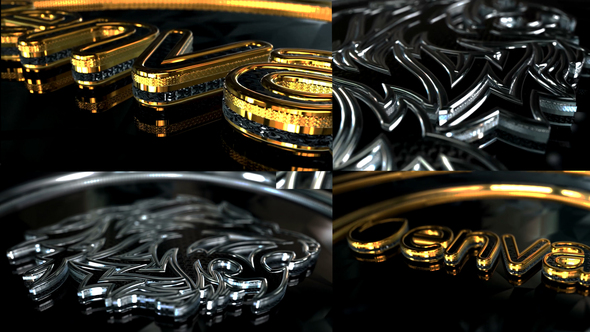 Gold And Silver Glossy Logo
