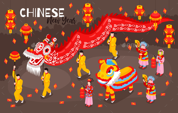 Chinese New Year Colored Background