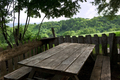 Panoramiv view of the countryside from a rustic terrace - PhotoDune Item for Sale