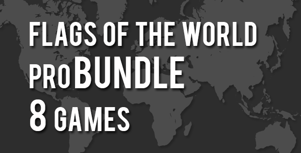 Flags of the World Pro Bundle 8 Games