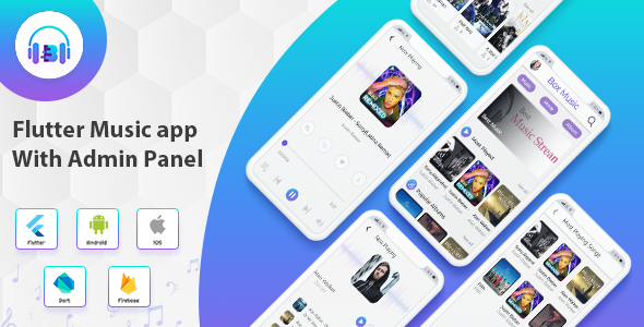 Flutter App Music With Admin Panel Download