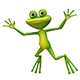 3D Illustration of a Jumping Frog - GraphicRiver Item for Sale