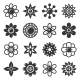 Flower Icons Set on White Background - GraphicRiver Item for Sale