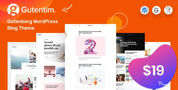 Gutentim - Modern Gutenberg WordPress Blog Theme