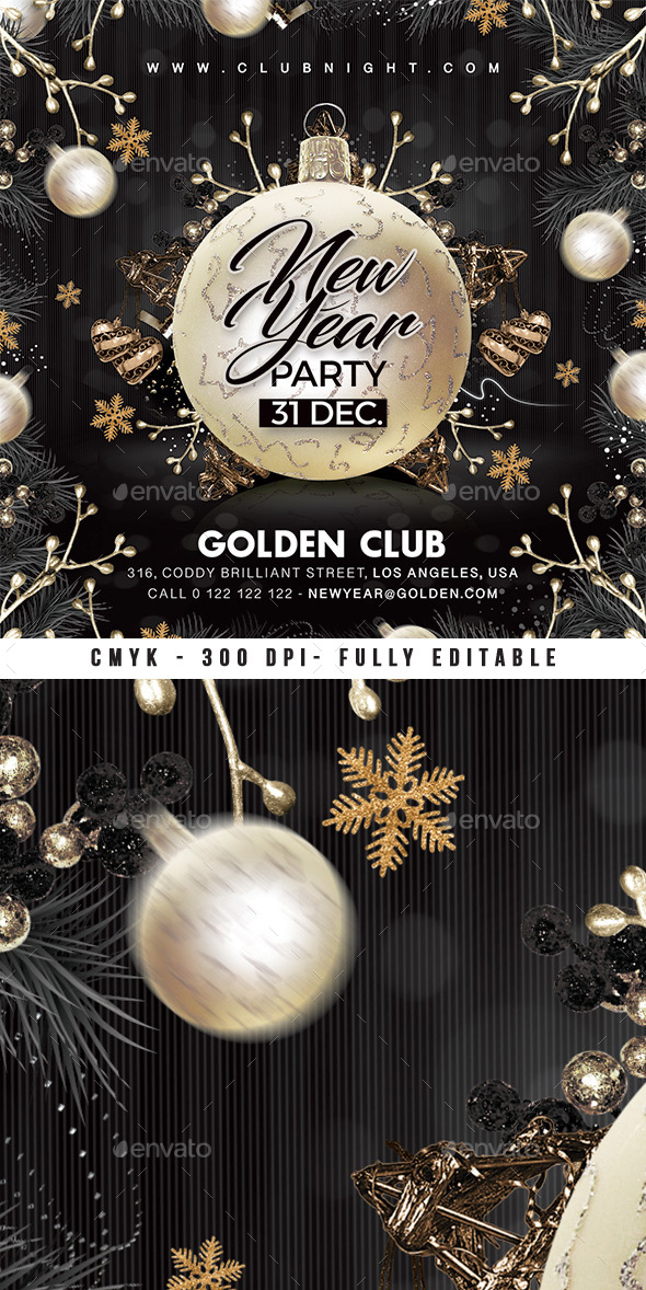Nye Party New Year Flyer