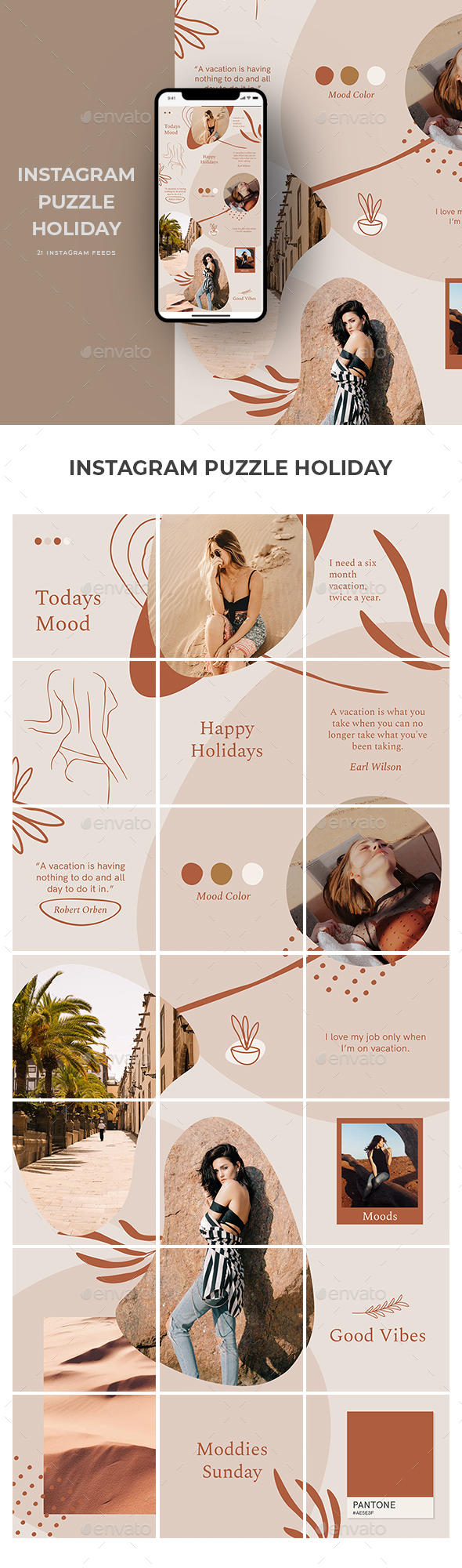 Instagram Puzzle Holiday Templates