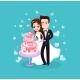 Bride and Groom Cutting Dessert Wedding Vector - GraphicRiver Item for Sale