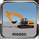Rigged Excavator 3D Model - 3DOcean Item for Sale