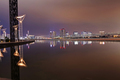 Night view on Tokyo skyline from Harumi Wharf Park - PhotoDune Item for Sale