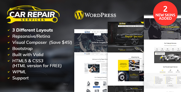 Car Repair Services & Auto Mechanic WordPress Theme