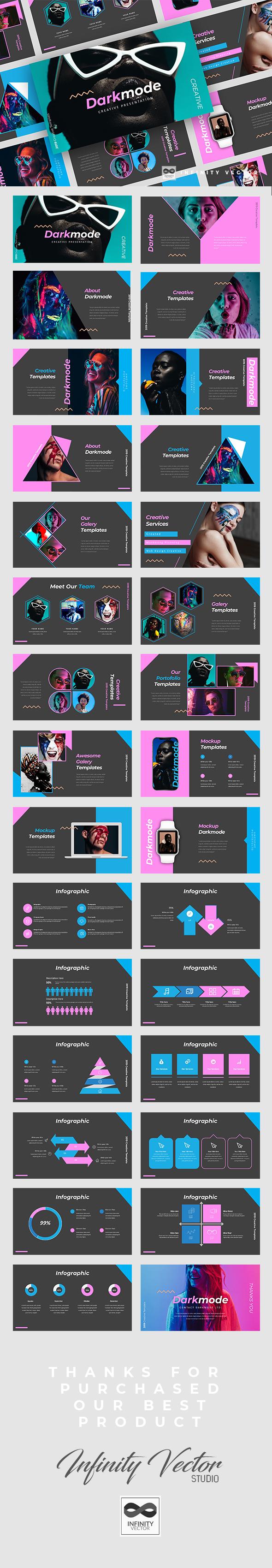 Darkmode Creative Google Slides