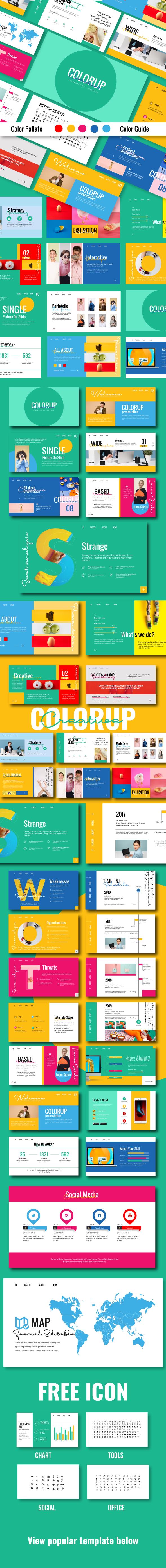 Colorup Google Slide Template