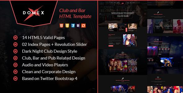 Domex - Night Club HTML Template