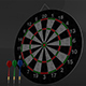 3D Double Sided Dart Board Game - 3DOcean Item for Sale