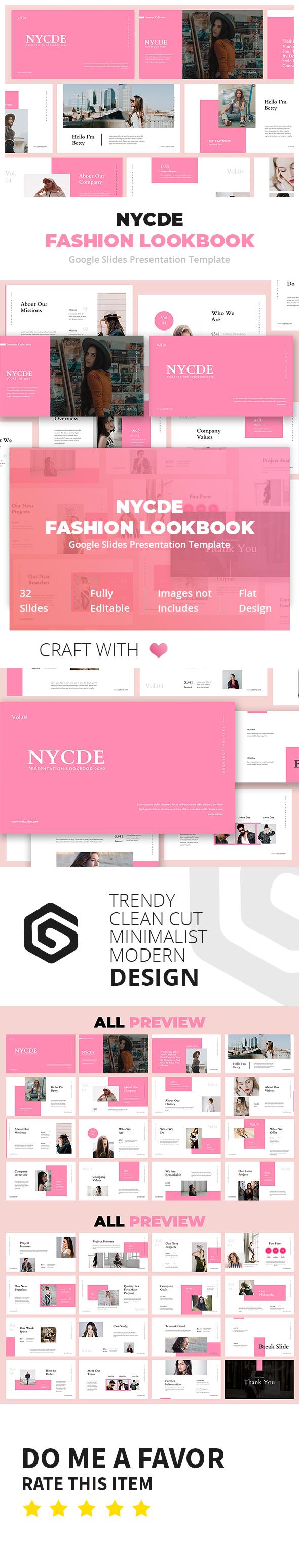 Nycde Fashion Lookbook Google Slides