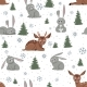 Deer and Bunnies Background - GraphicRiver Item for Sale