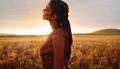 Woman enjoying countryside fresh air - PhotoDune Item for Sale