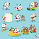 Collection of Santa Characters Vol2 - GraphicRiver Item for Sale