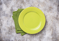 Empty plate on concrete table - PhotoDune Item for Sale