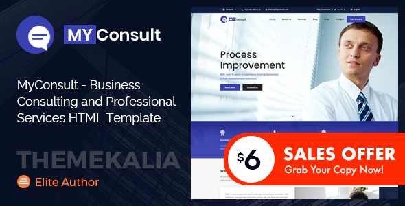 MyConsult - Business Consulting and Professional Services HTML Template