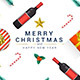 Modern Merry Christmas and Happy New Year Greeting Card - GraphicRiver Item for Sale