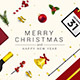 Abstract Modern Merry Christmas and Happy New Year Greeting Card - GraphicRiver Item for Sale