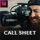 Call Sheet - Filmmakers Documents - GraphicRiver Item for Sale