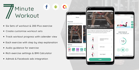Fitness - 7 Minute workout Android Full application Download