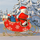 Santa Claus with Reindeer Goes on the Way - VideoHive Item for Sale
