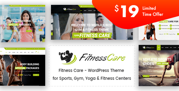 Fitness Care - Gym WordPress Theme