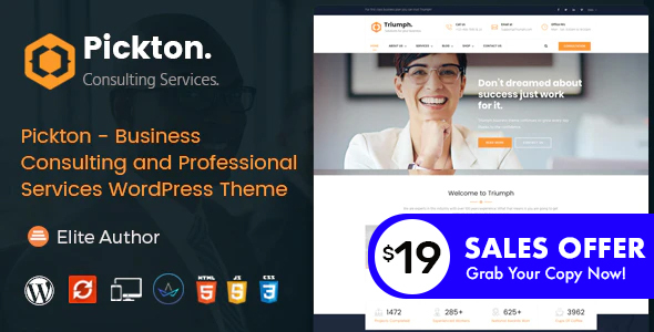Pickton - Consulting WordPress Theme