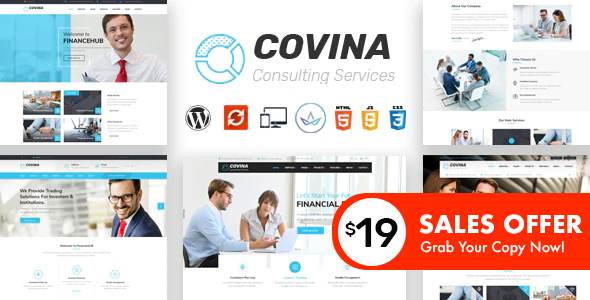 Covina - Business Consulting and Professional Services WordPress Theme