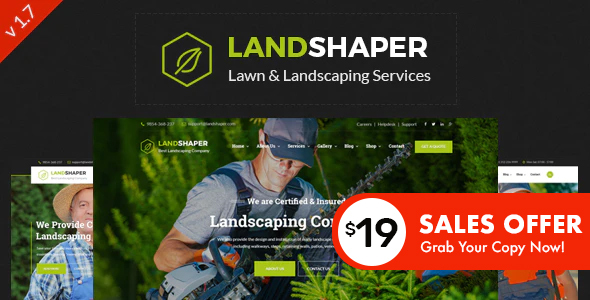 The Landshaper - Gardening & Landscaping WordPress Theme