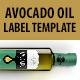 Oil Label Template (Avocado) - GraphicRiver Item for Sale
