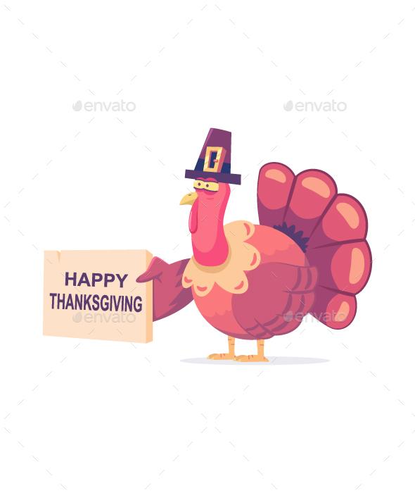 Thanksgiving Turkey Disguise Vector Cartoon Character