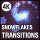 Christmas Snowflakes Transitions vol.1 - VideoHive Item for Sale