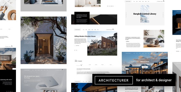 Architecturer WordPress for Interior Designer