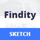 Findity - Sketch Template - ThemeForest Item for Sale