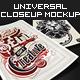 Universal Closeup Mockup Vol. 1 - Premium Kit - GraphicRiver Item for Sale