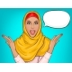 Arabic Woman in Hijab Shocked - GraphicRiver Item for Sale
