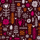 Plants and Deer in Nordic Style Seamless Pattern - GraphicRiver Item for Sale