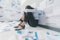 Desperate businesswoman and business failure - PhotoDune Item for Sale