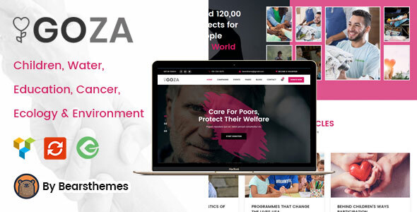 Goza - Nonprofit Charity WordPress Theme