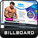 Fitness Billboard Template - GraphicRiver Item for Sale