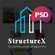StructureX - Minimal Construction Magazine PSD Template - ThemeForest Item for Sale