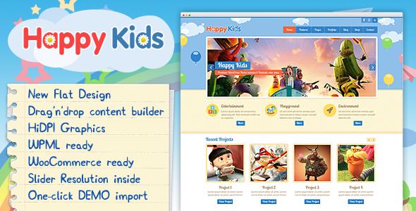 Happy Kids - Children WordPress Theme
