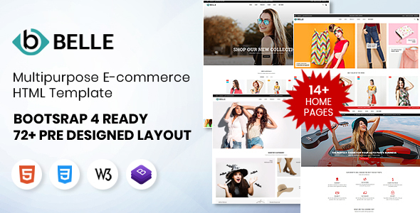Download Belle – Multipurpose Bootstrap 4 HTML Template Nulled