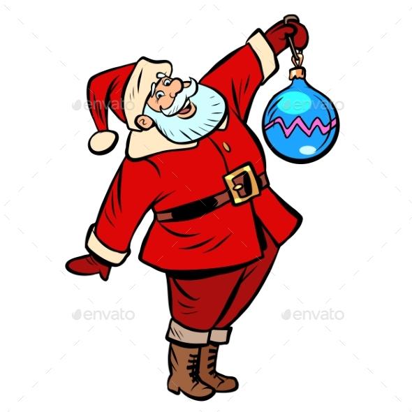 Christmas Ball Decoration Santa Claus Character