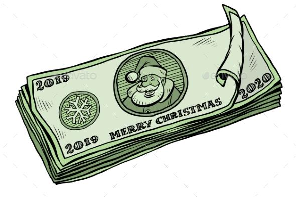 2019 2020 Banknotes Money Cash Annual Bonus